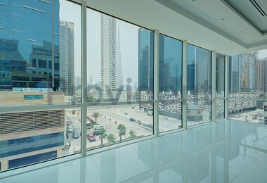 Large Fitted Office with Burj Khalifa View