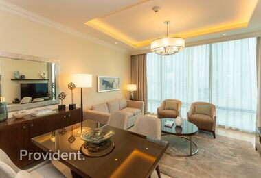 Magnificent 1BR | Furnished with Burj Khalifa View