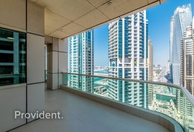 Well Maintained | High Floor with Marina/Sea View