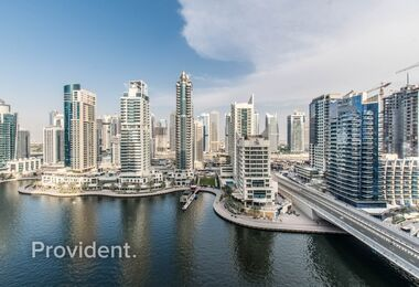 EXCLUSIVE|2 Beds + M|Unfurnished|Full Marina View