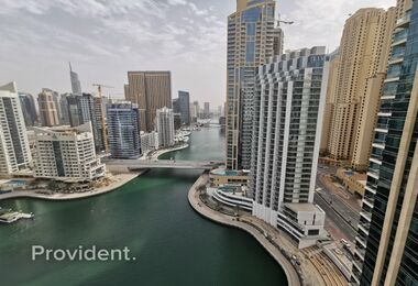 Full Marina View, Unfurnished 2BR with balcony