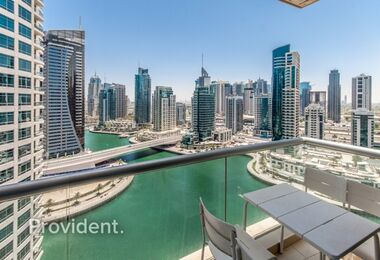 Fully Furnished with Magnificent view of Marina