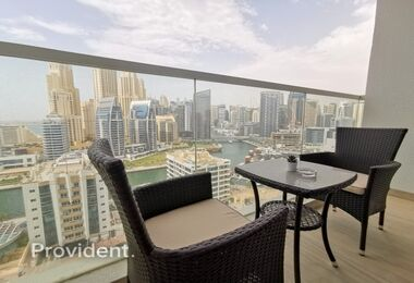 Fully Furnished Studio with Marina Views