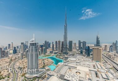 Overlooking Burj Khalifa | Furnished and Serviced