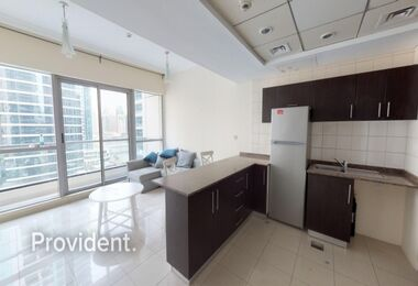 Alluring Furnished 1 B/R with Stunning Marina View