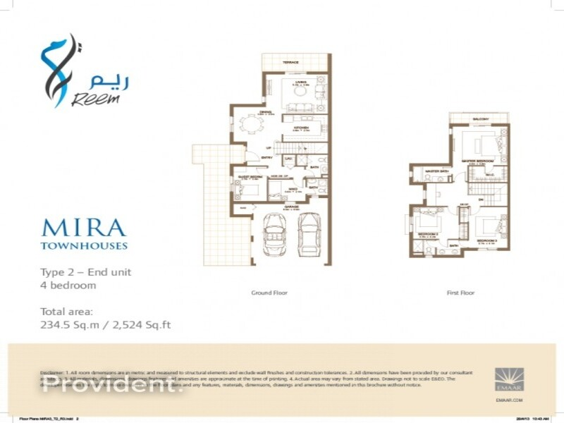 Townhouse for Sale in  Reem