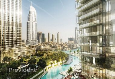 Limited unit facing Burj & fountain