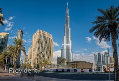 Furnished on High Floor with Burj Khalifa View