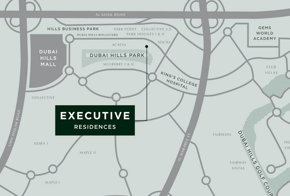 Executive Residences location_map