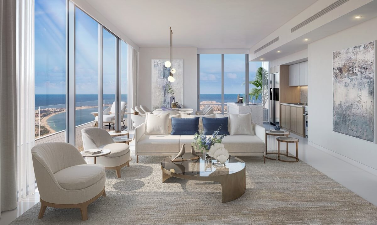 DHD Z2 B05 Living Dining rev 1 - Beach Isle at Emaar Beachfront